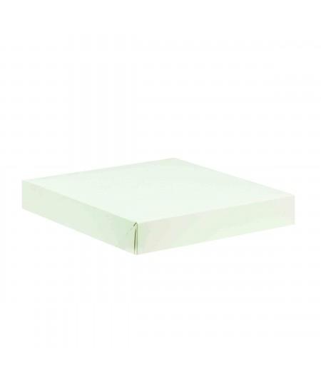 White tart box 23 x 23cm