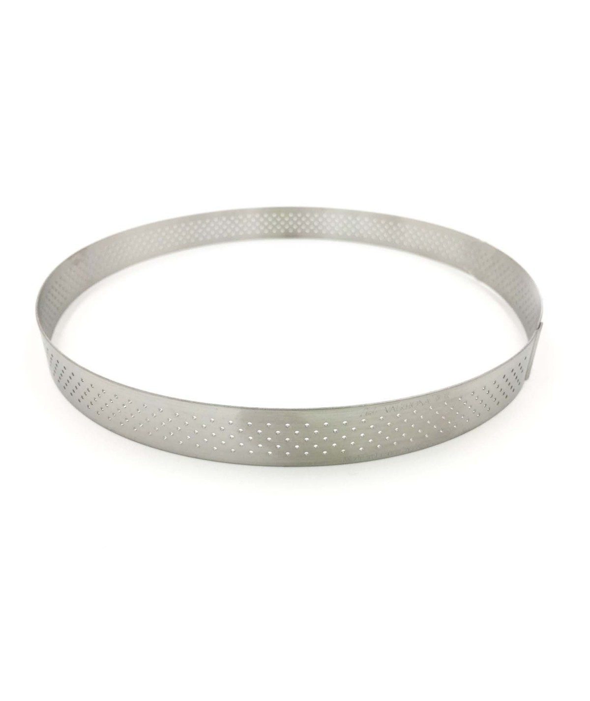 De Buyer - Straight edge perforated tart ring in stainless steel - Round 20cm