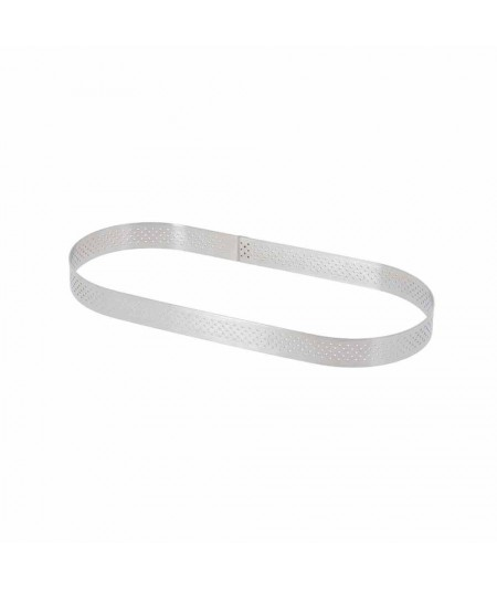 De Buyer - Stainless steel perforated tart ring - Oval