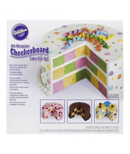 Wilton - Checkerboard Round Cake Set/4