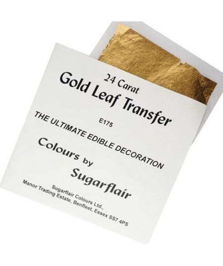 Sugarflair 24 Carat Gold Leaf Transfer