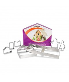 7 piece s/s gingerbread house cookie cutter set