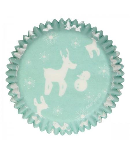 """FunCakes - 48 Caissettes à cupcakes """"Féérie Hivernale"""""""