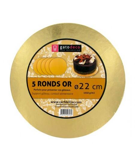 5 Supports à Gâteau 22cm