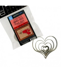 5 Heart cookie cutters