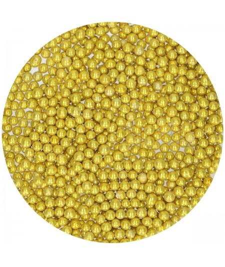FunCakes Sugar Pearls Medium Metallic Gold 80 g