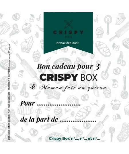 Bon cadeau 3 Crispy Box - Niveau Débutant