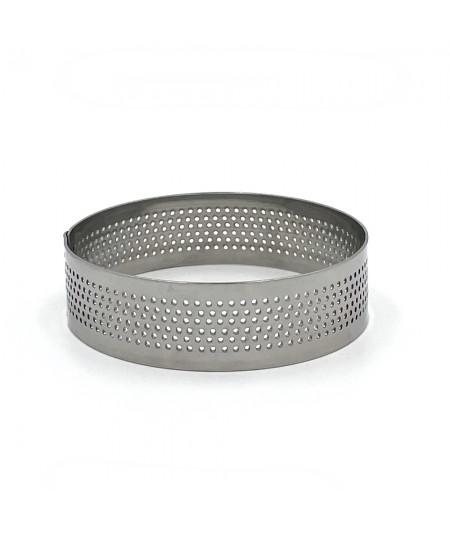 Set of 4 perforated tart ring - Round  7cm