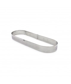 Perforated tart ring - Oval 20x7cm