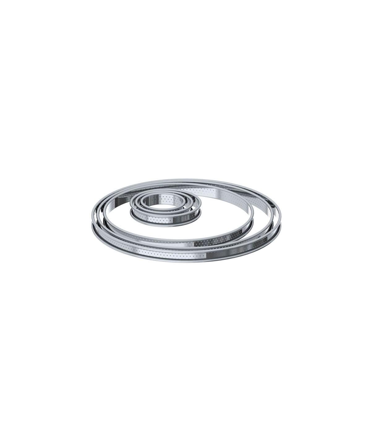 De Buyer - Cercle à tarte perforé rond en inox (H 2cm)