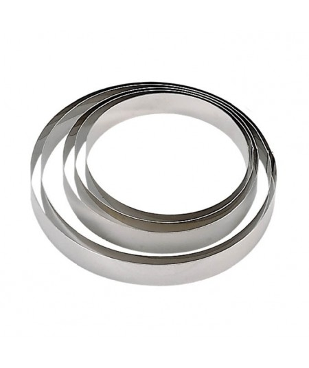 De Buyer - Stainless steel round pastry ring (H 4,5cm)